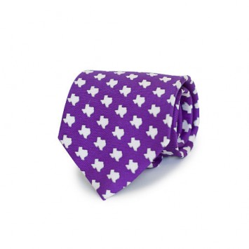 Purple TX Gameday Tie